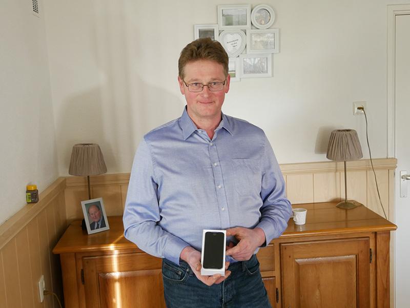 Prijswinnaar iPhone 6s beurs Hardenberg 2016